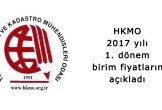 HKMO birim fiyatları 2017