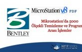 Mikrostation'da 5000  Ölçekli Temizleme ve Programlar arası işlemler