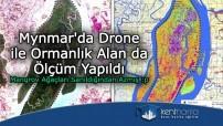 Mynmar'da drone ile ormanlık alanda analiz yapıldı