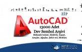 Autocad sembol arşivi 13000 adet dwg