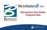 MicroStation ders notları (programa giris)