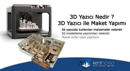 3d yazıcı ile maket ev yapımı